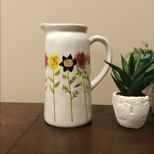 NWOT Rae Dunn Watercolor Wildflower Pitcher